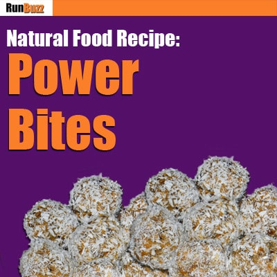 power bites natural food recipe for runners