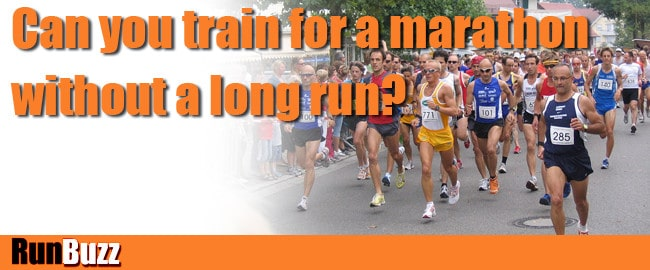 training for marathon without a long run